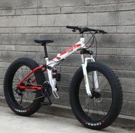 Fatbike MTB Hopfällbar Cykel 4″ bred på 26″-hjul 27-växlad