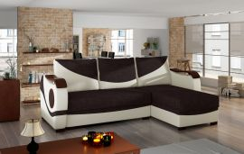 Corner sofa bed Perica-beige-brown
