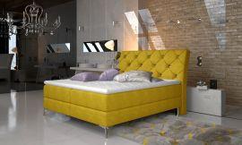 Boxspring bed Karleen -yellow-160x200cm