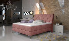 Boxspring bed Karleen -pink-180x200cm