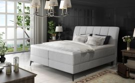 Boxspring bed Audelia -light grey-160x200cm