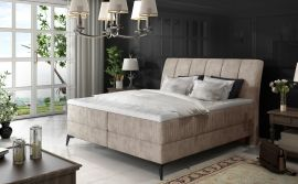 Boxspring bed Audelia -light brown-160x200cm