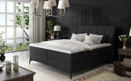 Boxspring bed Audelia -black-160x200cm