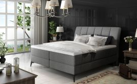 Boxspring bed Audelia -dark-grey-160x200cm