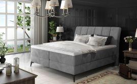 Boxspring bed Audelia -grey-160x200cm
