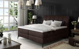 Boxspring bed Audelia -dark brown-160x200cm