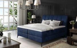 Boxspring bed Audelia -dark blue-160x200cm