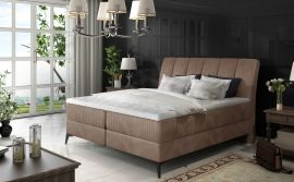 Boxspring bed Audelia -beige-brown-160x200cm