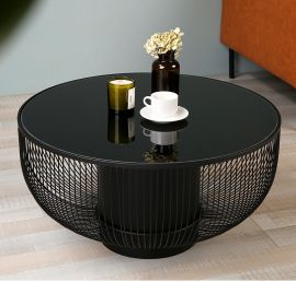 Round Coffee Table Albion-black