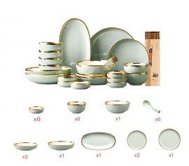 Tableware Set Alice, 26pcs-grey