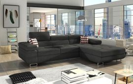 Corner sofa bed Marcia-dark-grey-right