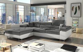 Corner sofa bed Marcia-white-grey-left