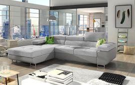 Corner sofa bed Marcia-grey-left