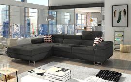 Corner sofa bed Marcia-dark-grey-left