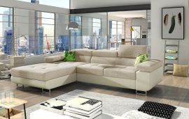Corner sofa bed Marcia-beige-left