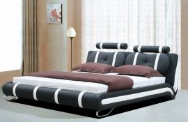 Bed Andalucia Lux 160-180-160x200cm-black-white