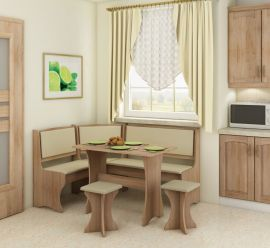 Dinning table set Angelina 6 person-oak