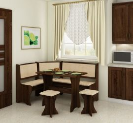 Dinning table set Angelina 6 person-brown