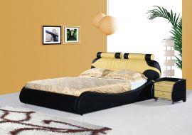 Säng Arezzo Lux 160-180 svart-gul