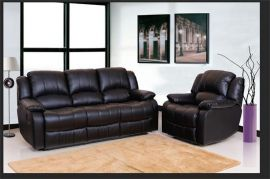 Arizona 1+2+3 Recliner sofa set-black