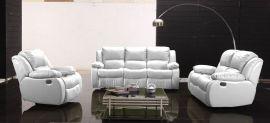 Arizona 1+2+3 Recliner sofa set-white