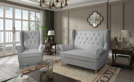 Sofa set Philomena 2+1-light grey