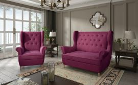 Sofa set Philomena 2+1-purple