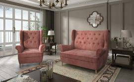 Sofa set Philomena 2+1-pink