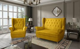 Sofa set Philomena 2+1-yellow