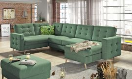 Corner sofa bed Enrique-green