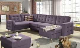 Corner sofa bed Enrique-purple