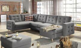 Corner sofa bed Enrique-grey