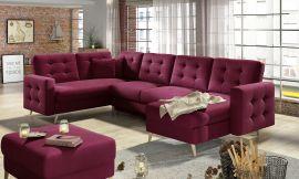 Corner sofa bed Enrique-red