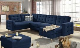 Corner sofa bed Enrique-dark blue