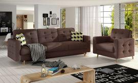 Sofa set Millicent 3+1-brown