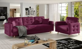 Sofa set Millicent 3+1-purple