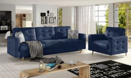Sofa set Millicent 3+1-dark blue