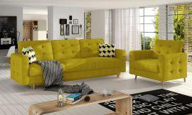 Sofa set Millicent 3+1-yellow