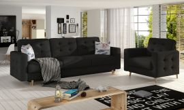 Sofa set Millicent 3+1-black