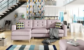 Corner sofa bed Dimitri-light pink