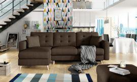 Corner sofa bed Dimitri-brown