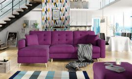 Corner sofa bed Dimitri-purple