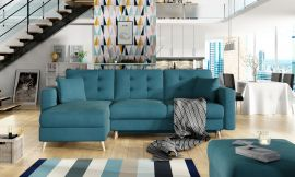 Corner sofa bed Dimitri-light blue