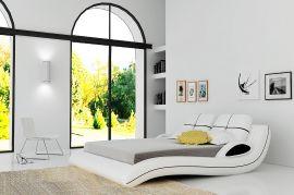 Säng Avellino Lux 160-180 svart-Vit