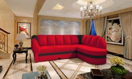 Corner sofa bed Fallon-red-right
