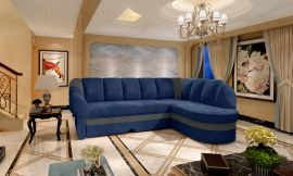 Corner sofa bed Fallon-blue-right