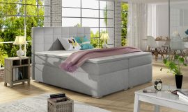Boxspring bed Irina -light grey-160x200cm