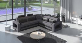 Corner sofa bed Crius-grey-left
