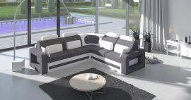 Corner sofa bed Crius-white-grey-left