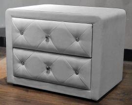 Sängbord Bergamo grå